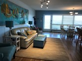gated community. winter 1 bedroom/2 full bths rental furnished oceanfront end unit park at door. absolutely no pets !